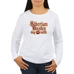 Siberian Husky Mom Women's Long Sleeve T-Shirt
