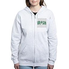 Irish Womens Zip Hoodie