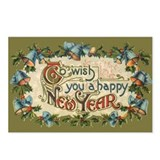 Vintage New Year's Eve Postcards (Package of 8)