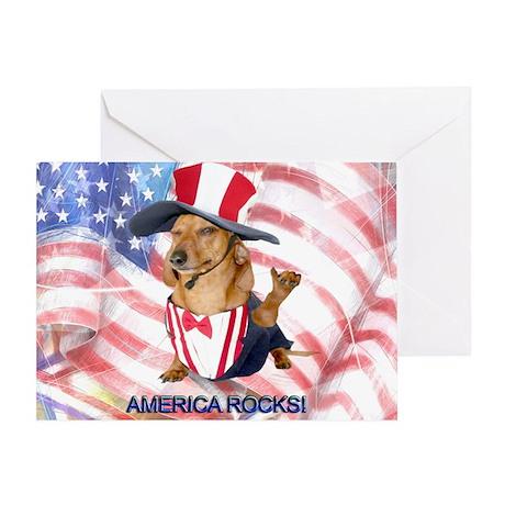 America Rocks Greeting Card