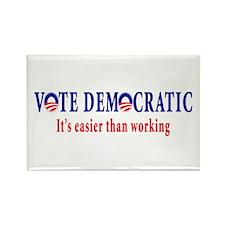 Vote Democratic It's Easier T Rectangle Magnet