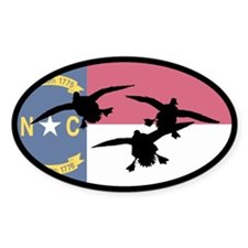 North Carolina Ducks Oval Sticker (10 pk)