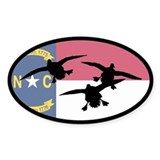 North Carolina Ducks Oval Decal