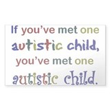 One Autistic Child Rectangle Sticker 50 pk)