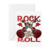 Rock N' Roll 4 Ever Rose Leaf Greeting Card
