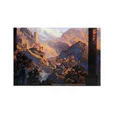 Maxfield Parrish Rectangle Magnet (10 pack)