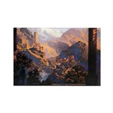Maxfield Parrish Rectangle Magnet