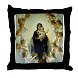 Funny Bouguereau Throw Pillow