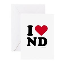 I Love North Dakota ~ Greeting Cards (Package of