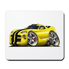 Viper GTS Yellow Car Mousepad