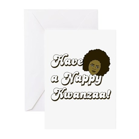 Nappy Kwanzaa Greeting Cards (Pk of 10)