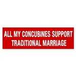 All My Concubines Bumper Sticker (10 pk)