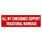 All My Concubines Bumper Sticker (10 pk)