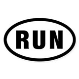 """Run"" sticker for runners"