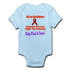 My Son has diabetes Infant Bodysuit