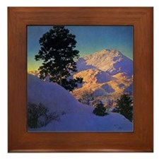 New Hampshire in Winter Framed Tile