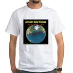 2012 Annular Solar Eclipse White T-Shirt