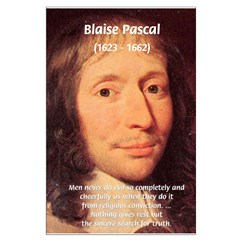 Mathematician: Blaise Pascal Large Poster
