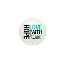 Cervical Cancer FAITH Mini Button (100 pack)