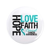 "Cervical Cancer FAITH 3.5"" Button (100 pack)"