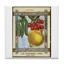 Sow Salzer's Seeds Tile Coaster