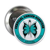 "Cervical Cancer Survivor 2.25"" Button"