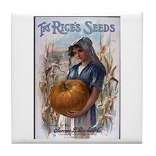 Rice's Seeds 3 Tile Coaster