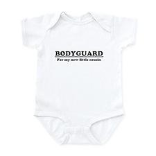 Bodyguard for new cousin Infant Bodysuit