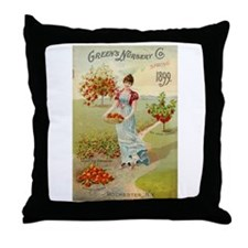 Green Nursery 1899 Throw Pillow