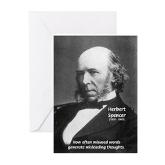 Evolutionist Herbert Spencer Greeting Cards (Packa