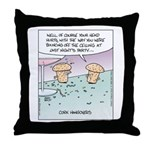 Champagne Cork Hangovers Throw Pillow