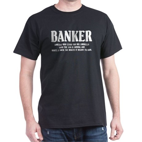 Funny Banker Black T-Shirt