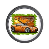 Burnt Orange Solstice Coupe Wall Clock