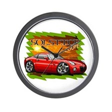 Red Solstice Coupe Wall Clock