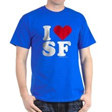 I Love San Francisco (SF) - Black T-Shirt