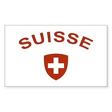 Switzerland suisse Rectangle Decal