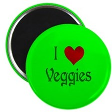 I Heart Veggies Magnet