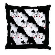 Poker Dreams Throw Pillow