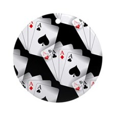 Poker Dreams Ornament (Round)