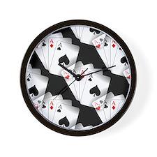 Poker Dreams Wall Clock