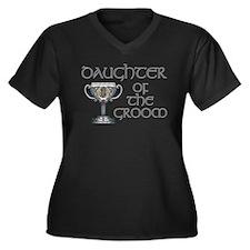 Celtic Daughter Groom Women's Plus Size V-Neck Dar