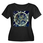 Cogs and Gears Women's Plus Size Scoop Neck Dark T