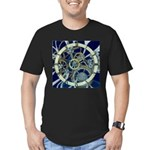 Cogs and Gears Men's Fitted T-Shirt (dark)