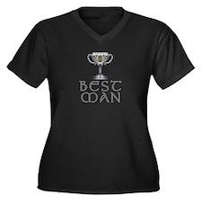 Celtic Best Man Women's Plus Size V-Neck Dark T-Sh