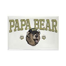 New Papa Bear Dad Rectangle Magnet