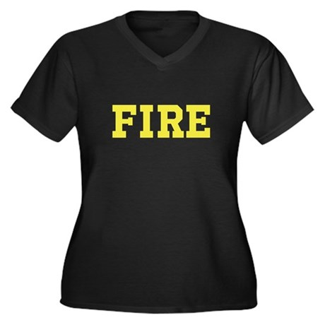 Fire Rescue Plus Size V-Neck Shirt