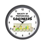 Eggineer Society Wall Clock