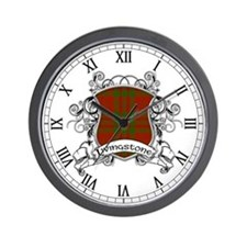 Livingstone Tartan Shield Wall Clock