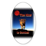 The King is coming! Oval Decal