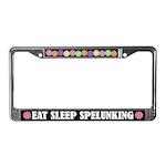 Eat Sleep Spelunking License Frame